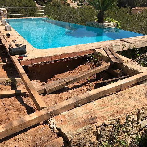 Reparación y restauración de terraza exterior de madera de Ipé, Jávea