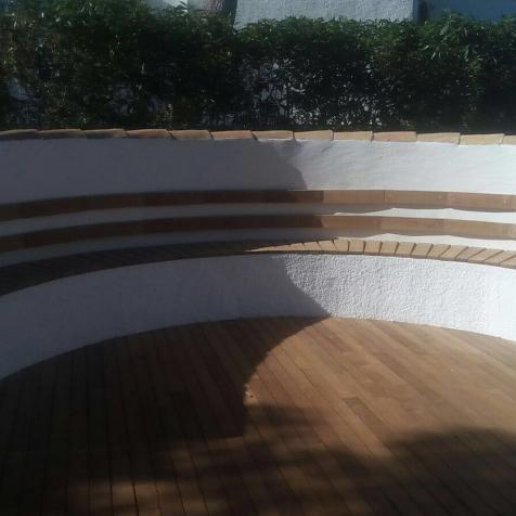 Tarima exterior de madera de IPÉ, Jávea